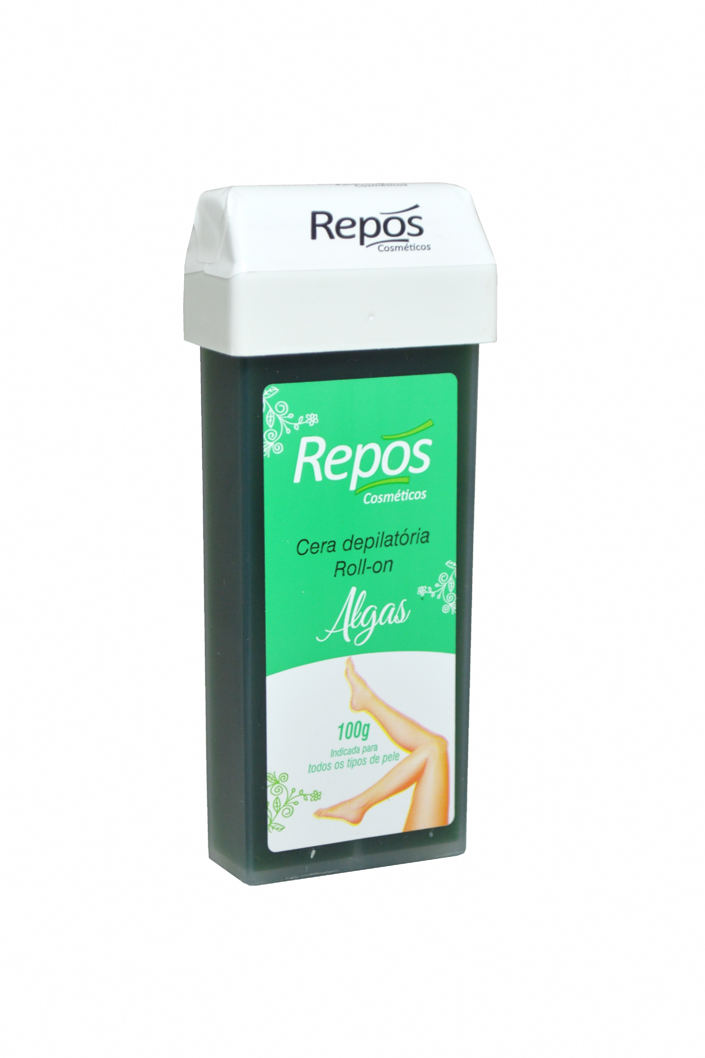 Cera Depilatória Repos Roll-On Algas 100g